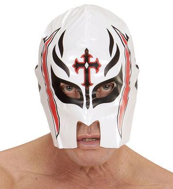 WHITE WRESTLER MASK