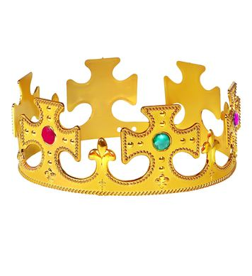 GOLD KING CROWN WITH GEMS