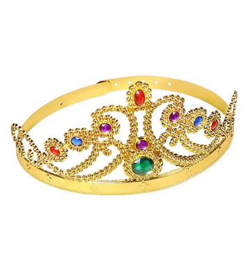 GOLD QUEEN CROWN WITH GEMS