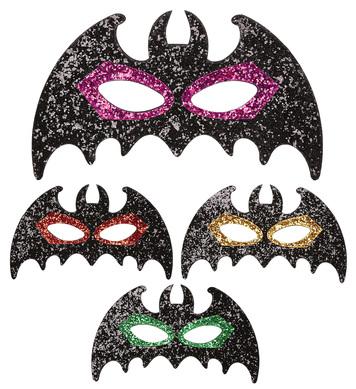 GLITTER BAT EYEMASK - 4 colors asstd