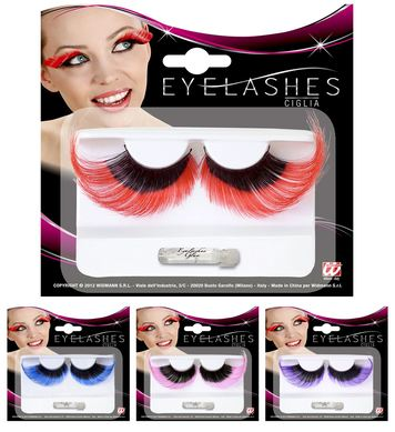 EYELASHES EXTRALONG BLACK W/COLOUR TIP - 4 colours