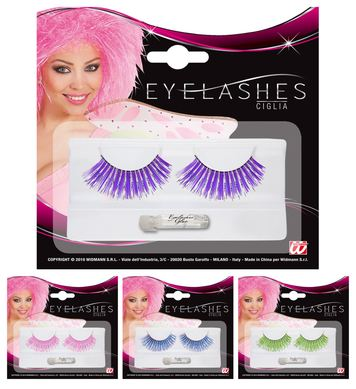 EYELASHES LASER FASHION - (Pink,Lilac,Turquoise,Green)