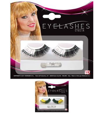 BICOLOUR METALLIC EYELASHES - 2 colours
