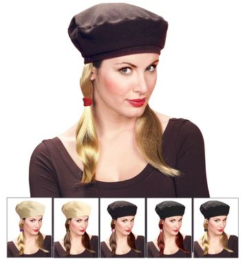 BASCO HAT W/PIGTAILS - 6 colours