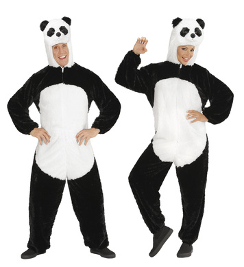 PLUSH PANDA M/L (hooded jumpsuit with mask)