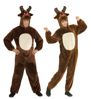 PLUSH REINDEER - M (hooded jumpsuit with mask)