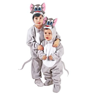 LITTLE GREY CAT (jumpsuit, headpiece with mask) Childrens