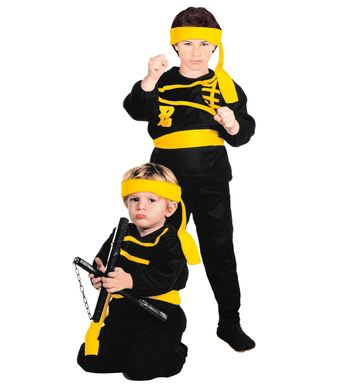 LITTLE NINJA (coat, pants, belt, headband) Childrens