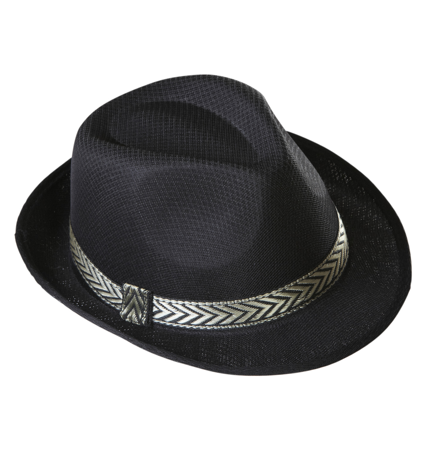 Black Panama Fedora Hat Fancy Dress