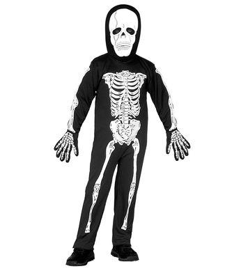 LITTLE SKELETON COSTUME (jumpsuit,mask) Childrens