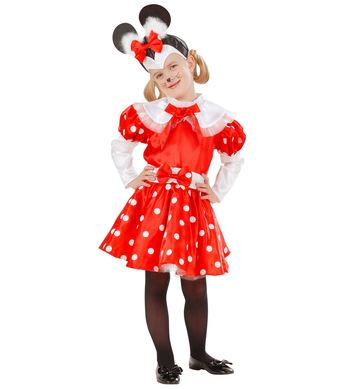 MOUSE GIRL COSTUME (dress belt.head piece) Childrens