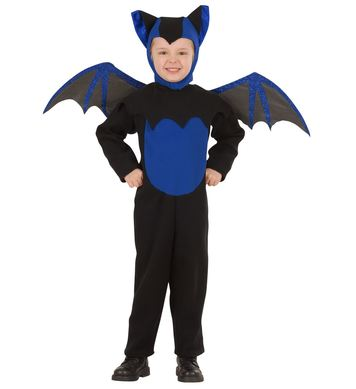 BAT COSTUME (jumpsuit hat wings) Childrens