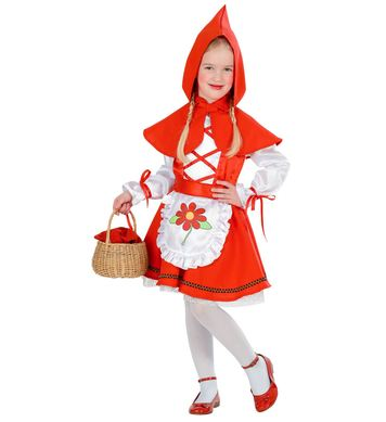 RED CAPELET COSTUME (dress belt,hooded capelet) Childrens
