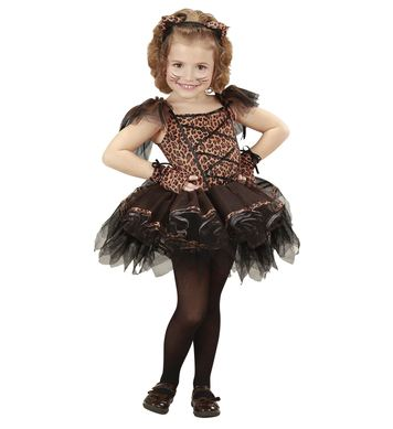 BALLERINA LEOPARD (tutu dress, ears, gloves) Childrens