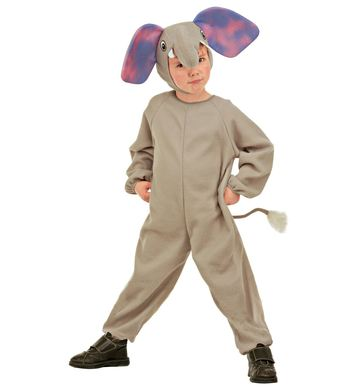 LITTLE ELEPHANT COSTUME (jumpsuit, headpiece) Childrens