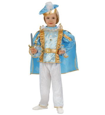 CHARMING PRINCE (coat with cape, pants, belt, hat) Childrens