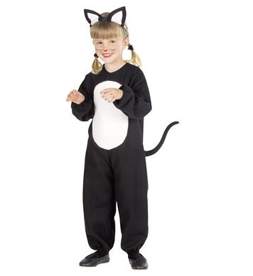 BLACK CAT COSTUME (jumpsuit, ears) Childrens