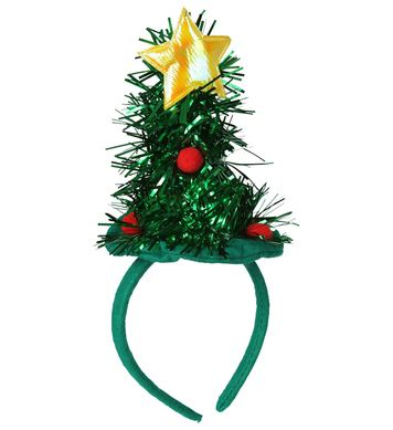 CHRISTMAS TREE MINI HAT- TINSEL