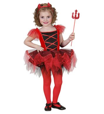 BALLERINA DEVIL (tutu dress horns) Childrens