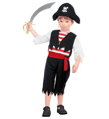 LITTLE PIRATE COSTUME (jumpsuit,belt,hat) Childrens