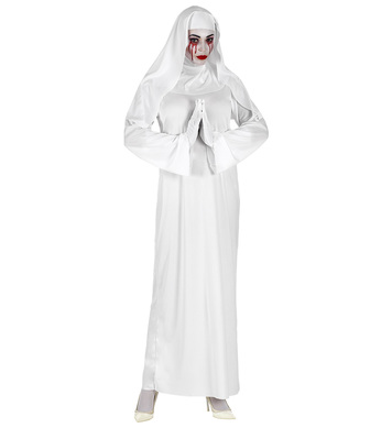 GHOSTLY NUN (dress, headpiece, gloves)
