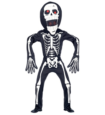 SKELETON (overalls, oversized mask) Childrens
