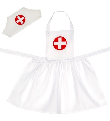 NURSE (apron, headpiece) child size Childrens