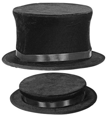 COLLAPSIBLE TOP HAT suede look