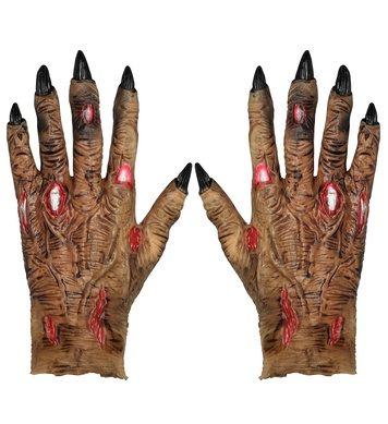 pair of latex ZOMBIE HANDS (1Size)