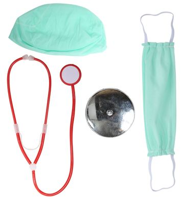 DOCTOR (hat, mask, head reflector, stethoscope)