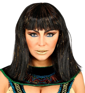 CLEOPATRA WIG WITH TINSEL - ADULT in polybag
