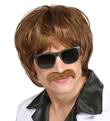 60s DUDE WIG WITH MOUSTACHE in box