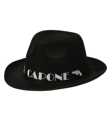 AL CAPONE HAT FELT - BLACK