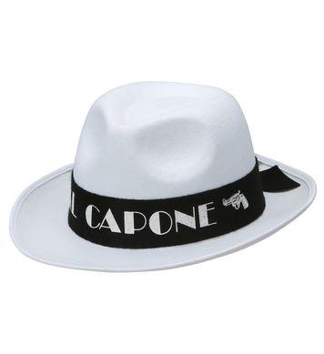 AL CAPONE HAT FELT - WHITE