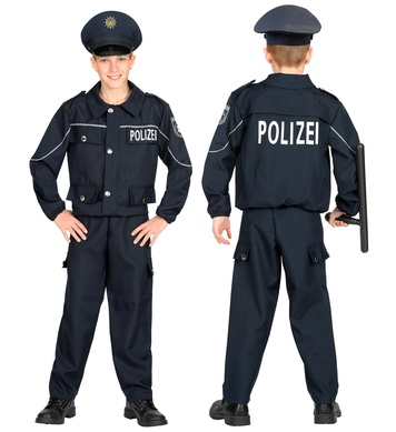 GERMAN POLICE OFFICER (jacket, pants, hat) Childrens