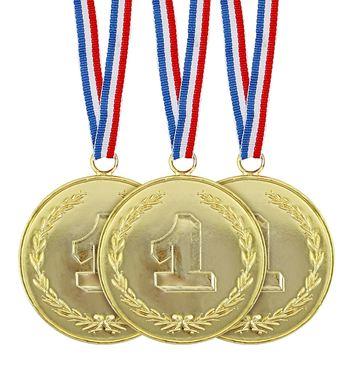 SET OF 3 GOLD MEDALS