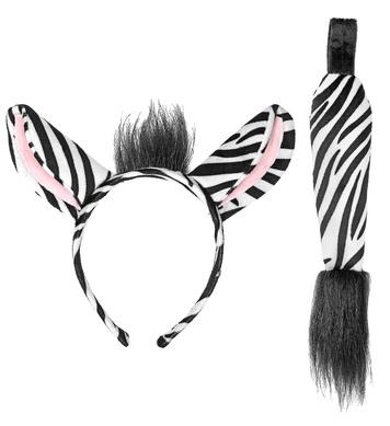 ZEBRA (ears, tail)