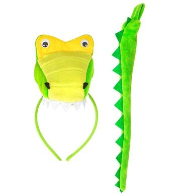 CROCODILE (headpiece, tail)