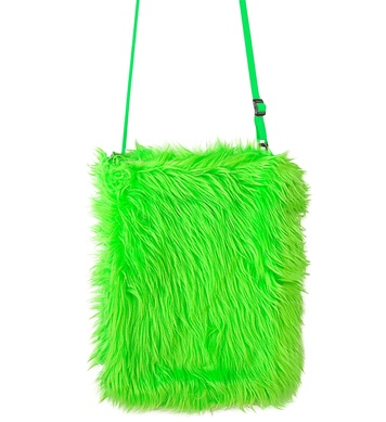 PLUSH HANDBAG - NEON GREEN