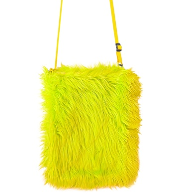 PLUSH HANDBAG - NEON YELLOW