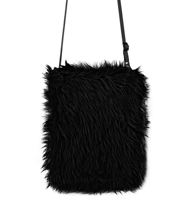 PLUSH HANDBAG - BLACK