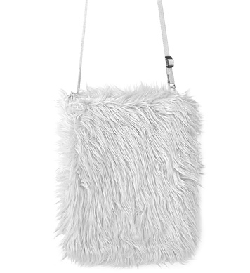PLUSH HANDBAG - WHITE
