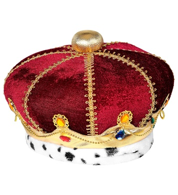 FABRIC ROYAL CROWN WITH GEMS