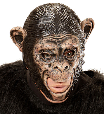 CHIMPANZEE 3/4 OPEN MOUTH MASK