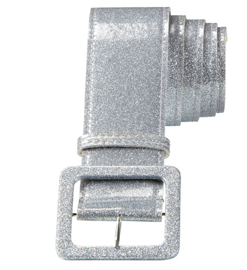 SILVER GLITTER BELT 120 cm