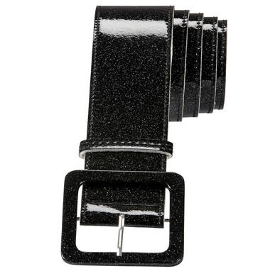 BLACK GLITTER BELT 120 cm