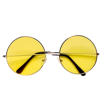70s GLASSES WITH YELLOW LENSES