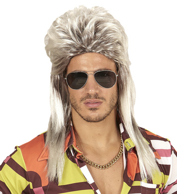 80s MULLET WIG in polybag - BLONDE