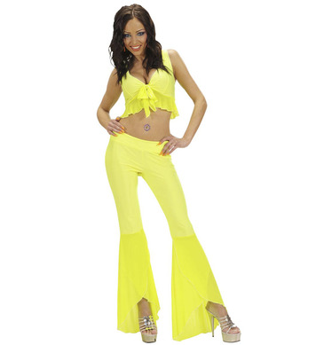 SAMBA TOP & PANTS - M - NEON YELLOW