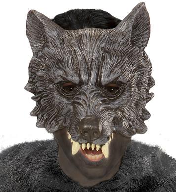 WOLF CHINLESS FOAM LATEX MASK - CHILD